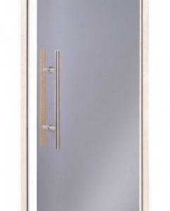 Bastudörr Natural Scan Light Premium ? Rökfärgat glas med dörrkarm i asp 6 x 19
